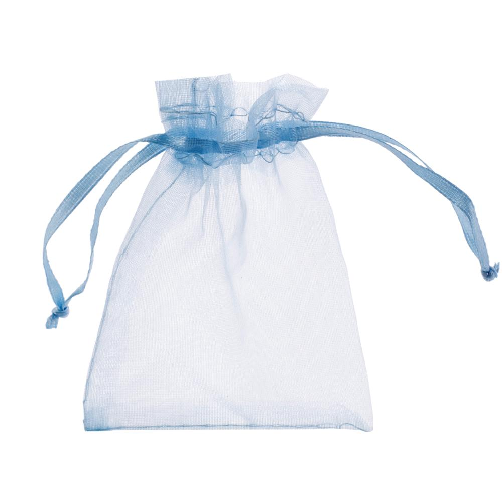Blue Draw String Gift Bag