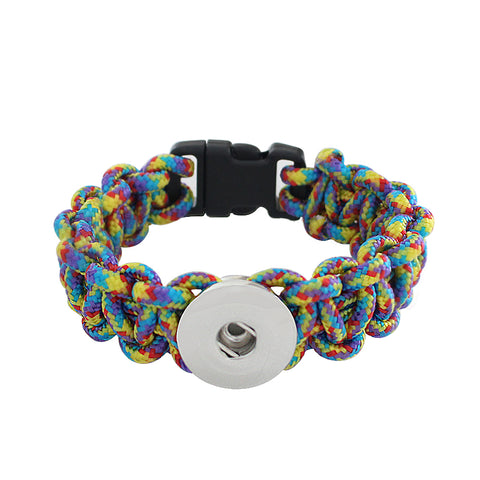 Bracelet - Braided Rainbow