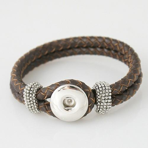 Bracelet - Braided Leather, Brown