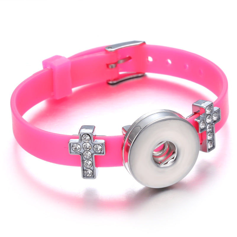 Bracelet - Pink Jelly Cross