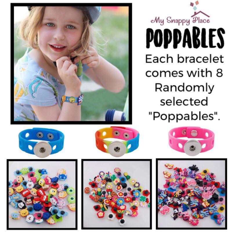 "Rainbow ""Poppable's"" Bracelet Set"