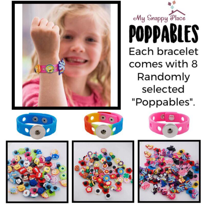 "Blue ""Poppables"" Bracelet Set"