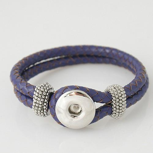 Bracelet - Braided Leather, Purple