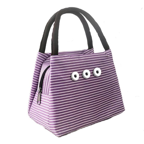 Striped Purse - Purple