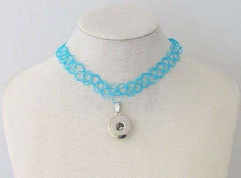 Tattoo Choker - Blue