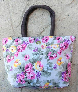 Floral Tote Bag - White