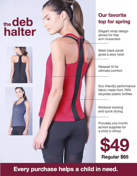 Deb Halter eco-friendly women's top
