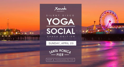 silent yoga event on the pier