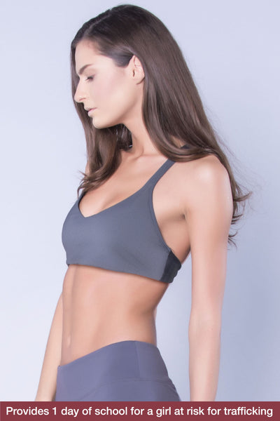 ad2d99c69105d Gray Racerback Sports Bra - Perfect Pairing For Any Fitness Workout –  revolucion
