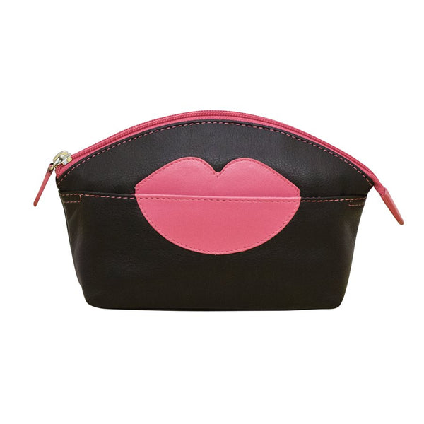 LEATHER LIP COSMETIC BAG