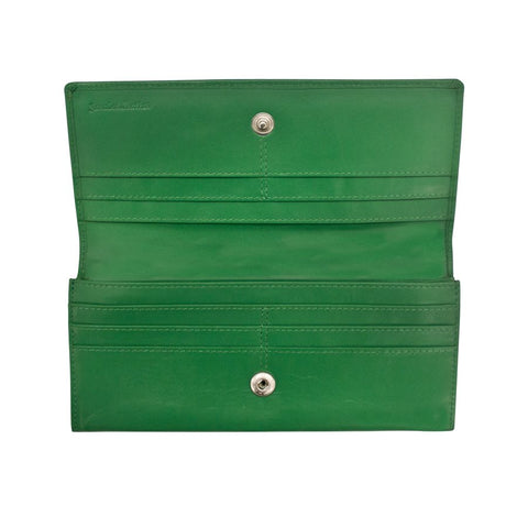 Wallets-four credit card slots and slide pocket on flap