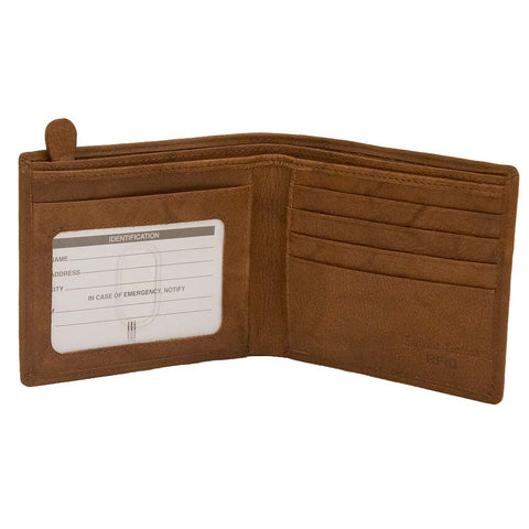 Wallet: Zip pocket, ID Card Window and  Credit card pockets