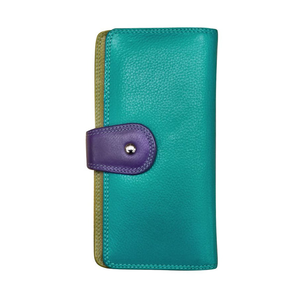 Women's Wallet-tab closure and zip pocket
