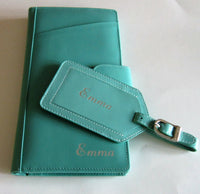 Travel Wallet with Luggage Tag Set