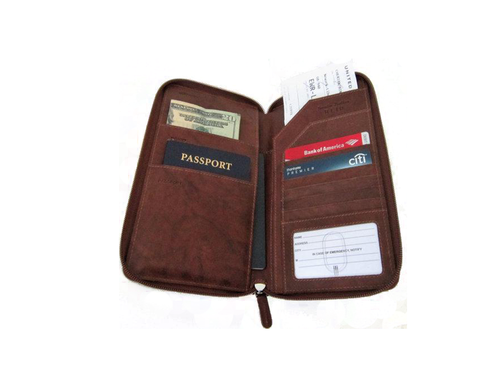 Travel Wallet with Zip Around
