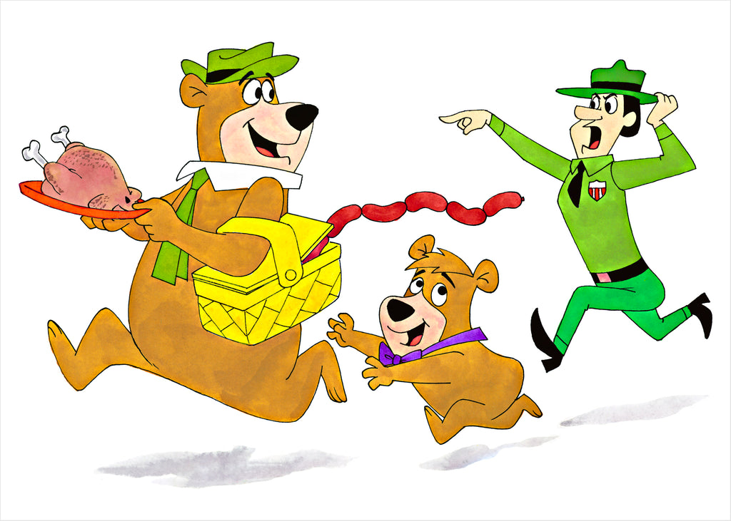 Yogi Bear and Boo Boo - Ron Campbell