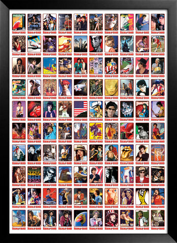 Rolling Stones Trading Cards Proof Sheet - Full Sheet