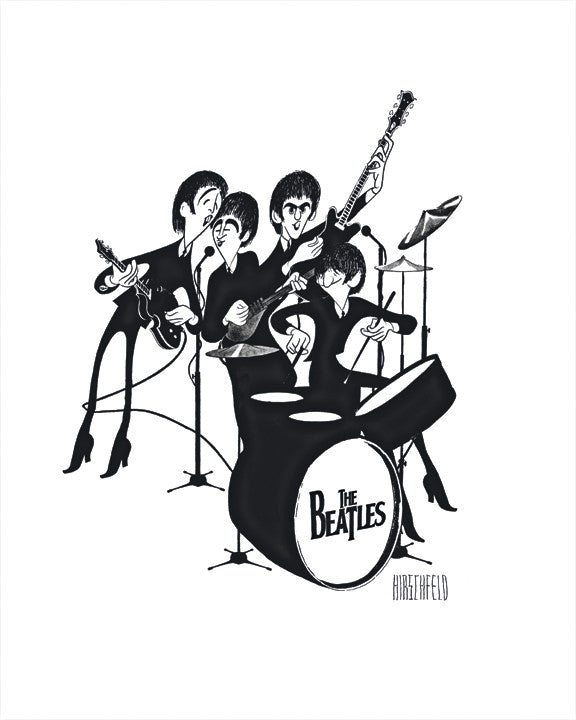 The Beatles - Al Hirschfeld