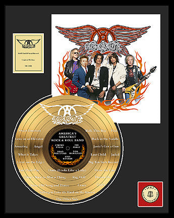 America's Greatest Rock Band - Aerosmith Gold Record