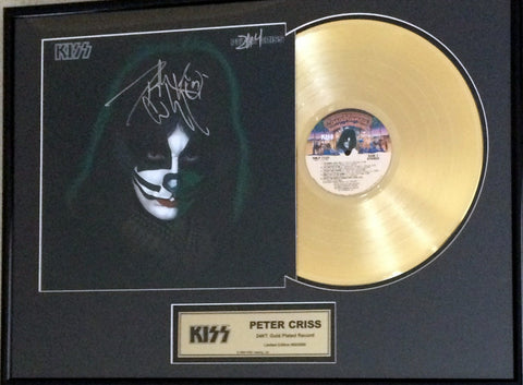 Peter Criss - KISS  (Signed Gold Record)