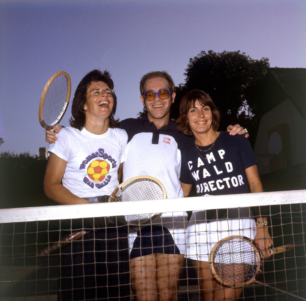 Elton John with Billie Jean King & Helen Reddy - James Fortune