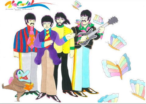 Yellow Submarine Beatles with Butterflys - Ron Campbell