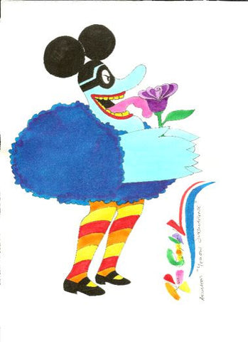 Beatles Blue Meanie with Flower - Ron Campbell
