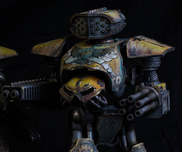 How to Paint: Legio Gryphonicus - Advanced Weathering Techniques - Yellow Armor