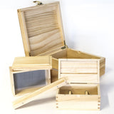 STORAGE - WOOD ROLLING BOX EXTRA LARGE