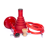 HOOKAH - TALL RED WITH 2 HOSES