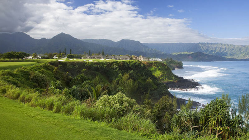 Princeville Makai Ocean teebox on hole 7