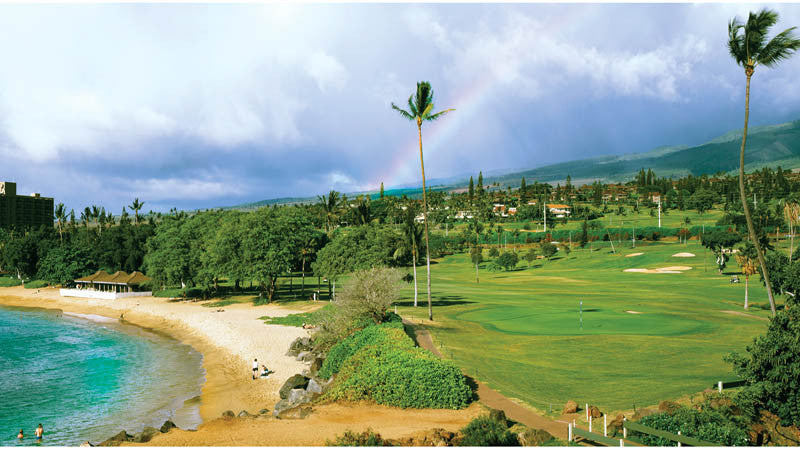 Kaanapali Royal 5th green and incredible beach
