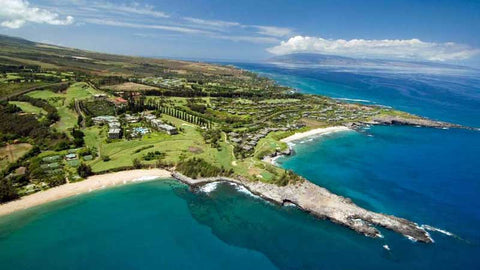 Kapalua Bay aerial view of signature 4th and 5th holes