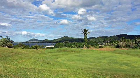 Bay View 14th green with amazing views of the bay