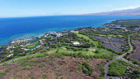 Mauna Lani Drone View of North Course Hawaii Tee Times
