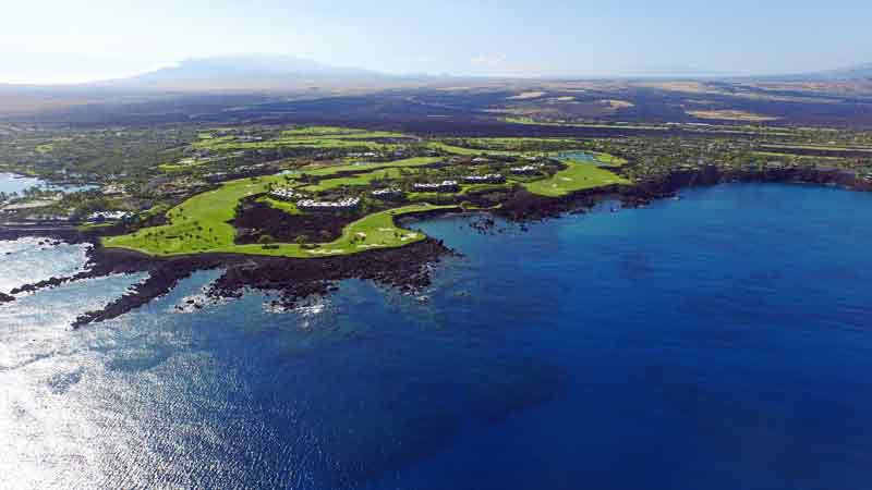 Mauna Lani Aerial Views of Back nine with Hawaii Tee Times Drone