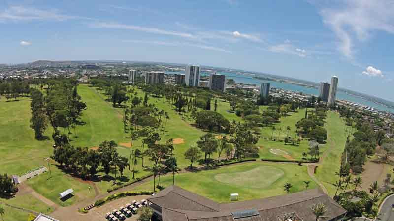 Pearl Country Club Aerial View with Hawaii Tee Times