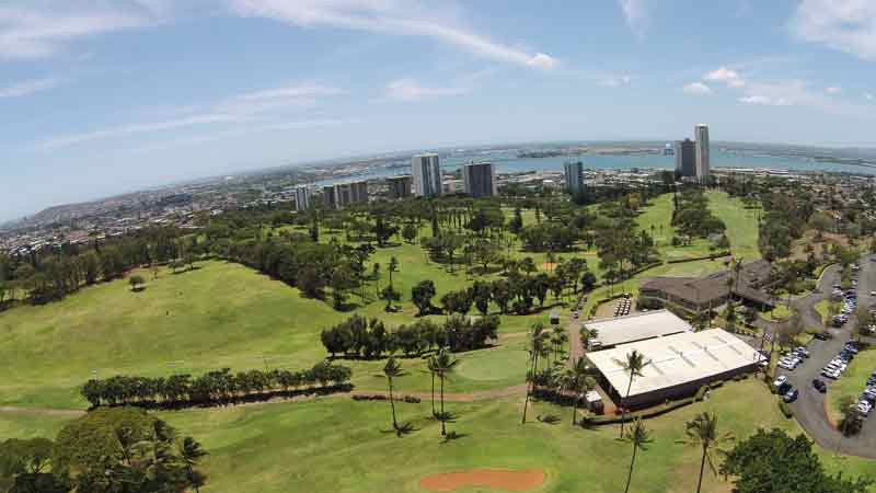 Aerial view of Pearl Country Club Honolulu Hawaii