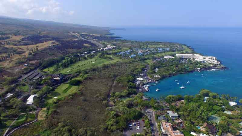 Kona Country Club June 2015 aerial view front nine
