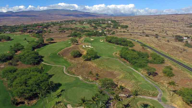 Hapuna Golf Course aerial views from Hawaii Tee Times