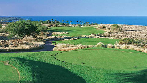 Hapuna Golf Course Hawaii with amazing ocean views