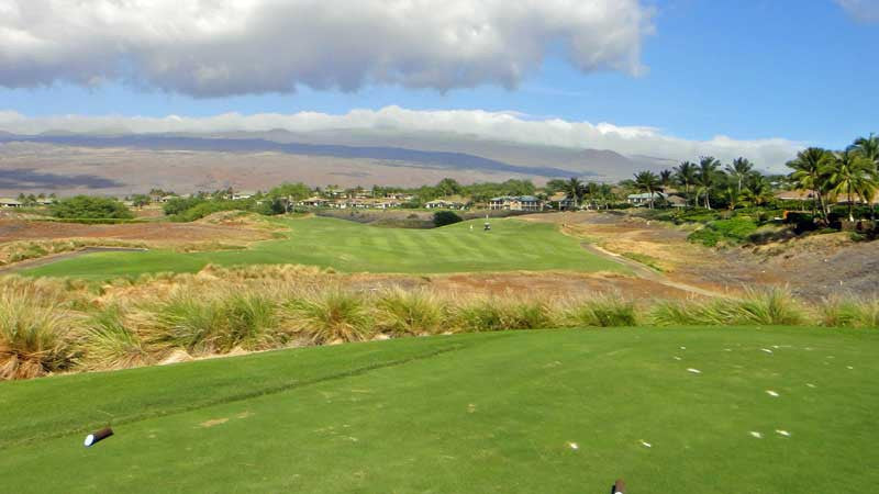 The beautiful views from the upper part of the Hapuna Golf Course