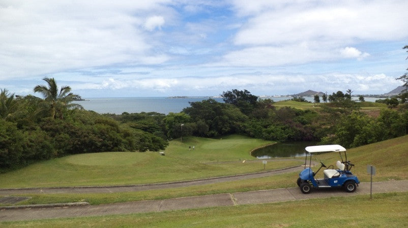Bayview Golf  has great views of  Kaneohe Bay