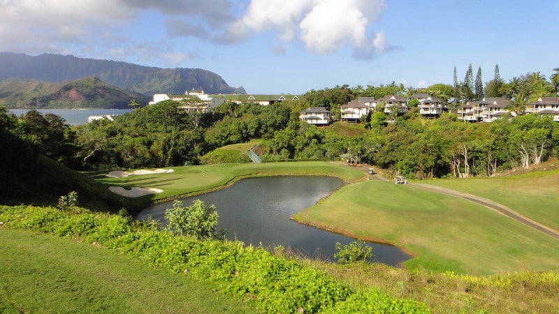 Princeville Makai Golf Course 3rd hole from teebox