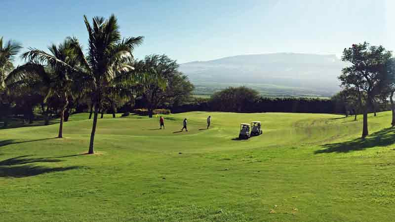 Kahili Golf Course finishing 18th green