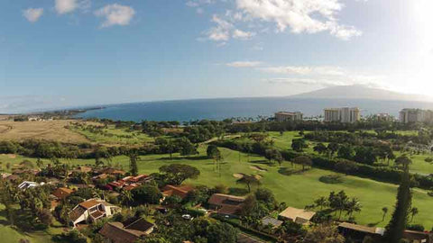 Views of front nine at Kaanapali Kai Golf in Maui