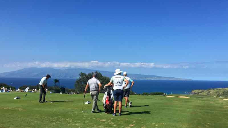 Kapalua 11th tee from Hyundai tournament 2015