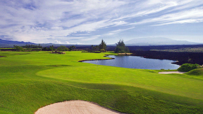 Waikoloa Kings Water Hazzard on the back nine with lots of lava