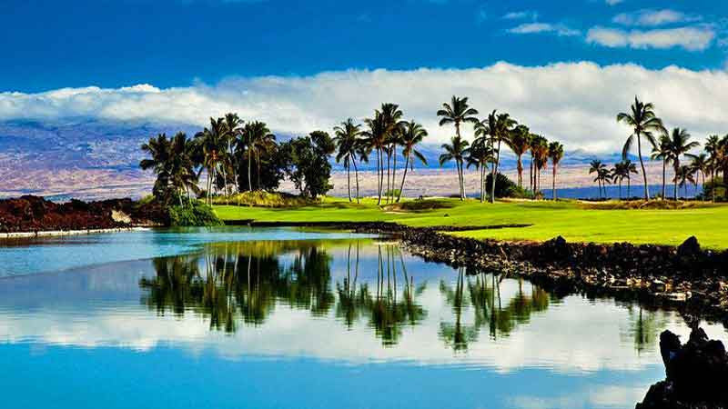 Beautiful13th hole at Waikoloa Kings Golf Course
