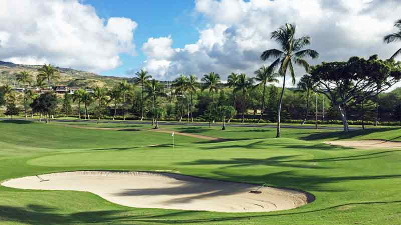 Koolina 17th green Hawaii Tee Times